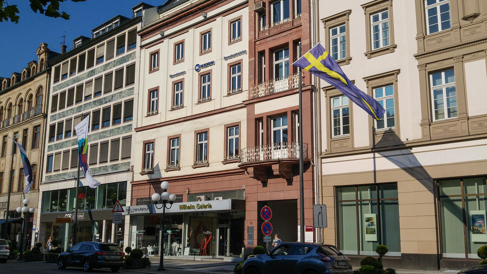 Exterior view of the KERN language school Wiesbaden