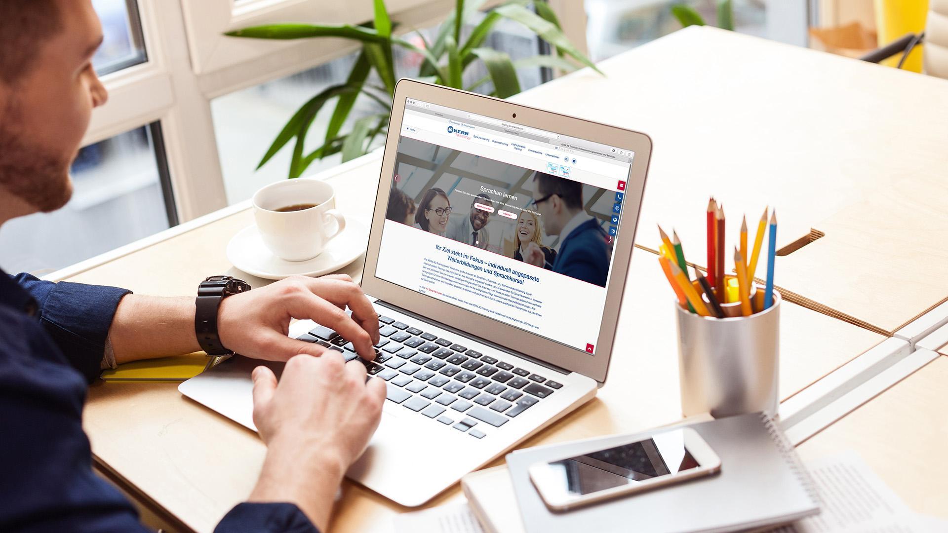 Nieuwe website van de KERN AG Training